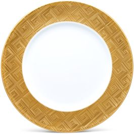 Noritake Noble Ensemble Gold Round Serving Platter Charger